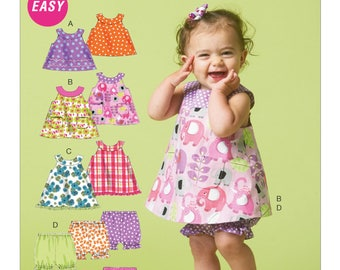 Sewing Pattern-McCall's 5791-Baby Dress and Panty Diaper Covers-Size Newborn to X-large