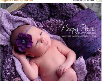 ON SALE PURPLE Hydrangea headband, newborn photography prop,
