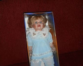 """Ashley Belle Fine Bisque Porcelain Doll 18"""" In Box Limited Edition. COA 747/1200 """"Patience"""""""