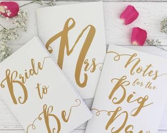 Wedding Notebooks | Wedding Journals | Bride To Be | Engagement Gift | Wedding Planning