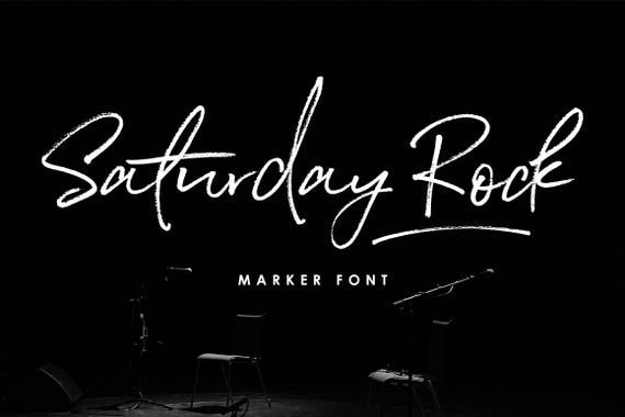 Calligraphy Font, Modern Calligraphy, Digital Fonts, Wedding Font, Invitation Font, Script Font, Digital Download, Saturday Rock