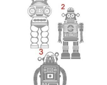 Robot Vinyl Decal Sticker
