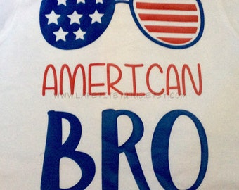 4th of July shirt, patriotic shirt, july 4th shirt, american bro, sunglasses, Boys shirt, mens shirt, america shirt, vinyl shirt, usa shirt
