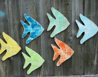 Tropical Angel Fish, Fish Decor, Rustic Wall Hanging
