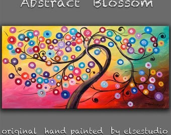 "Art, Painting, oil, Texture art, oil paintings, Colorful Home Art, modern wall painting, huge art abstract art canvas, Moody art, 48"" x 24"""