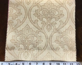 Custom Curtains Valance Roman Shade Shower Curtains in Champagne Damask Pattern Fabric