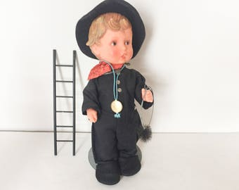 "12"" Plastic Chimney Sweep Hummel Doll by Goebel"
