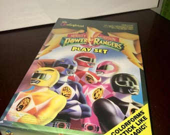 1993 Mighty Morphin Power Rangers  colorforms play set 779 MISP sealed!!