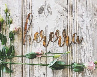CLEARANCE || hererra || Rusty Metal Word