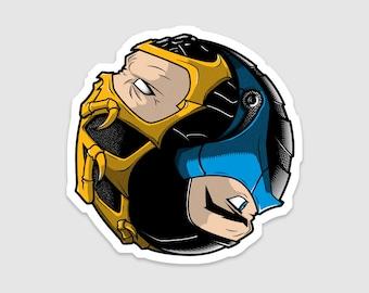 Individual Diecut Mortal Kombat Sticker