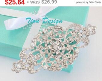 Summer Sale Wedding Brooch | Swarovski Rhinestone Brooch, Bridal Brooch #3098 | Free US Shipping