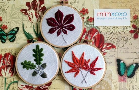 Embroidery KIT By Mlmxoxo. Modern Embroidery Kit. Autumn