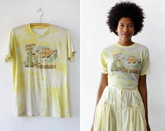 70s Tee • Don't Feed The Bears Shirt • Vintage T Shirt • Tie Dye Shirt • Worn In TShirt • Vintage TShirt • 70s Tee Shirt | T591