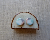 Ame Inlay Stud Earrings...