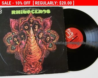 August Vinyl Blow Out 10% OFF Already Low Prices Rhinoceros Orig  LP VINYL Record Psychedelic era Rock Psych Satin Chickens