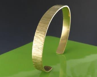 Delicate Hammered Brass Cuff Bracelet-Handmade