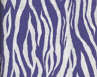 Brother Sister Design Studio Purple Zebra Print Fabric (2 yards)