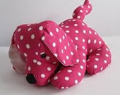 Sale! Pink Dotty Doggy Doorstop, Home Decor, Handmade, Fabric, Home, Home and Garden, Free Postage