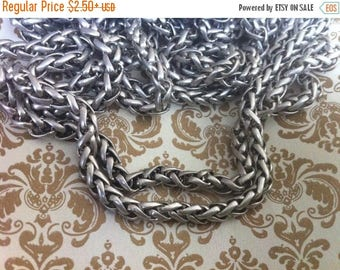 On SALE Vintage Style 5mm Woven high quality chain chain 5mm sturdy Antique silver  couture