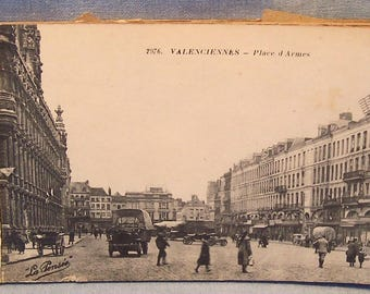 Antique WWI Postcard Booklet-Carte Postale-Valenciennes, France-20 Cards-FREE SHIPPPING!