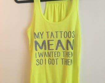 My Tattoos Tank