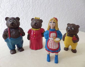 HG Toy Co. Stroybook Characters, Goldilocks and the Three Bears, 1988.