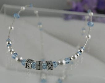 ON SALE Personalized Keepsake Necklace for Little Girls
