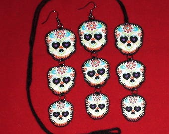 Halloween, Quilted Skull Set (HSS01)