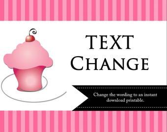 Text Change - Instant Download