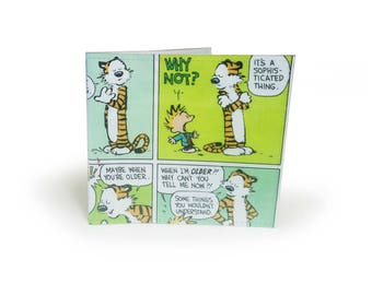 Comic Wallet - Upcycled Calvin and Hobbes Comic in PVC - Retro Wallet, Slim Wallet