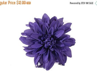 FLASH SALE Single Large Purple Dahlia Pinup Hair Flower Fascinator Clip