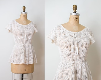 1970s Crochet Blouse