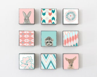 woodland nursery art- choose 9 designs- forest animals- nursery woodland art- animal print- nursery forest - geoemetric art- redtilestudio