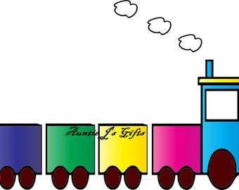 CROCHET graph with instructions PATTERN, choo choo train for afghan