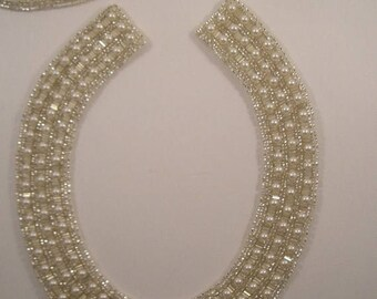 ON SALE Pearl Encrusted Beaded Collar--One Piece