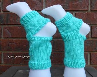 Adult Yoga Socks, Aquamarine, Toe-less socks, 4 Inch above ankle