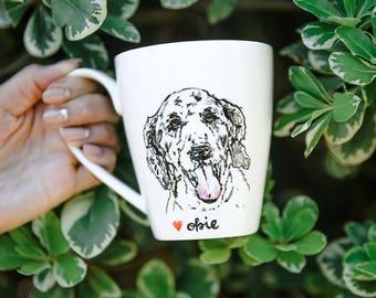 Poodle Dog Portrait Mug