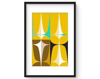 ASPECT no.20 - Giclee Print - Mid Century Modern Danish Modern Minimalist Modernist Abstract