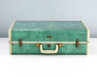 Vintage Samsonite Suitcase, Green Marble, Vintage Luggage Suit Case, Samsonite Luggage, Vintage Travel