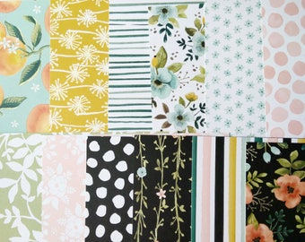 Stampin' Up! Whole Lot of Lovely DSP Designer Series Paper Sampler Share Floral Fruit  Double-Sided 6 x 6