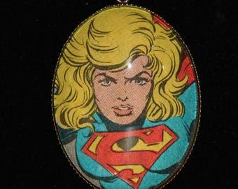 DC Super Girl Superman Melissa Benoist Bronze Necklace Justice League