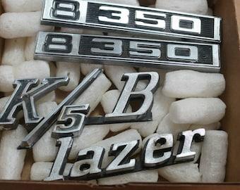 OEM 1972 Chevy Blazer K5 Fender Emblems