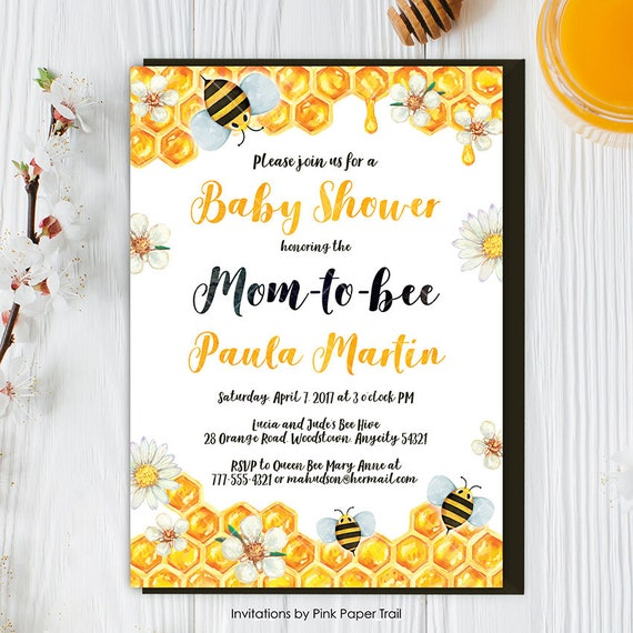 Bee baby shower invitation honey bee bumble bee baby shower party il570xn filmwisefo