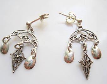 Norwegian Earrings 830 Silver Solje Jewelry for Pierced Ears