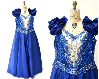 Blue prom dress size 0 leather