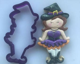 Miss Doughmestic Witch #1 Cookie Cutter or Fondant Cutter and Clay Cutter