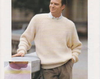Mens Chunky aran knitting pattern