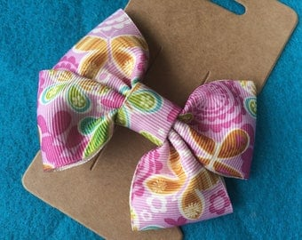 Butterfly Ribbon Double Loops Hair Bow Clip