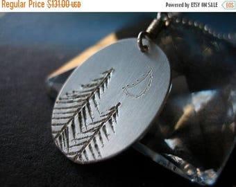 SALE Moonlight Redwood Forest Sterling Silver Necklace