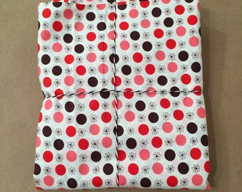 1 1/8 yards Flea Market Fancy Red Flower Dot by Denyse Schmidt